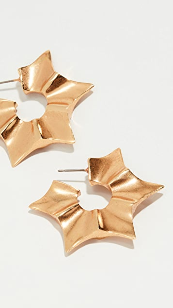 Sun Star Earrings by Oscar De La Renta