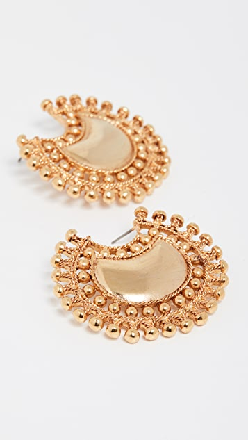 Oscar de la Renta Spoke Earrings