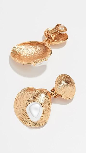 Oscar de la Renta Spoke Earrings