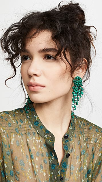 Oscar de la Renta Beaded  Earrings