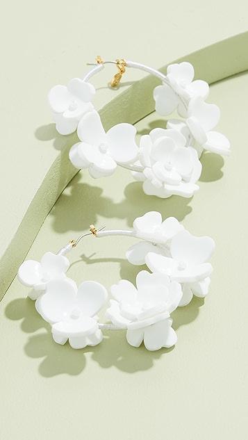 Oscar de la Renta 花园花朵圈式耳环