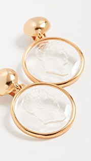 Oscar de la Renta 浮雕宝石耳环