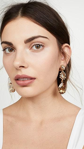 Oscar de la Renta Bold Mixed Jewel Earrings