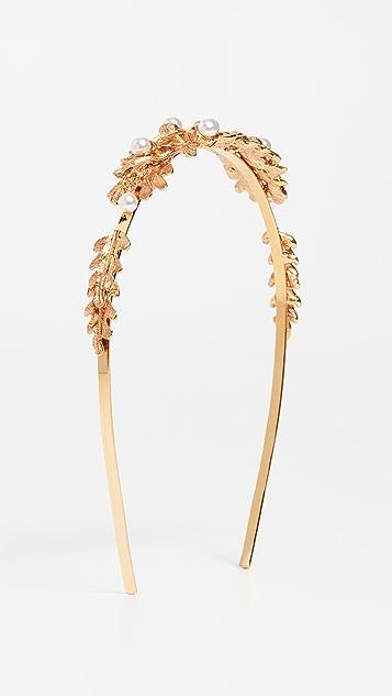 Oscar de la Renta Acorn & Leaf Pearl Headband