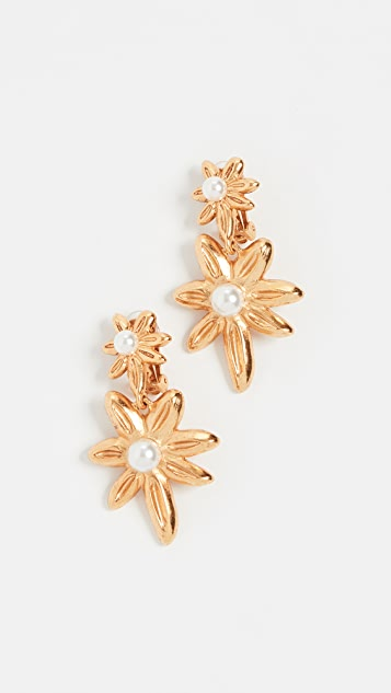 Oscar de la Renta Stars Link Earrings