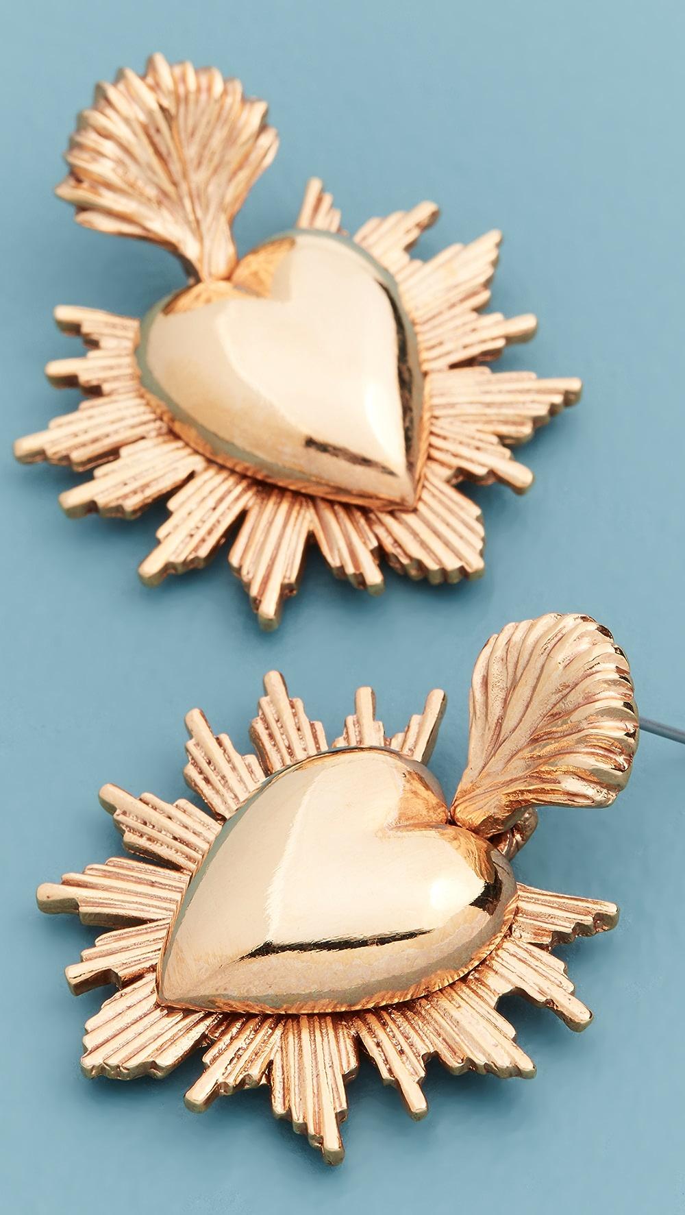 Oscar de la Renta Sacred Heart Earrings   SHOPBOP SAVE UP TO