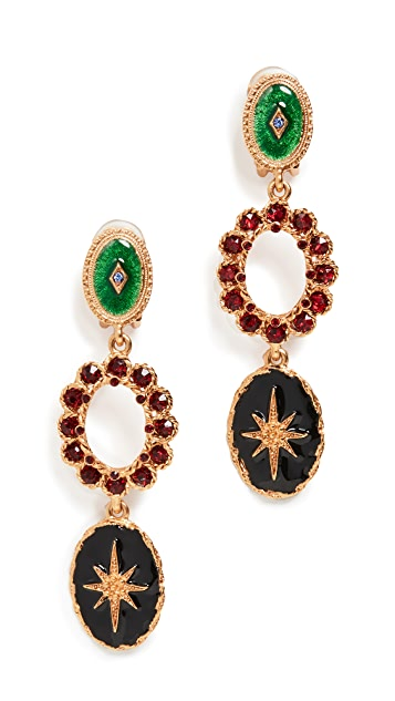 Oscar de la Renta Triple Drop Earrings