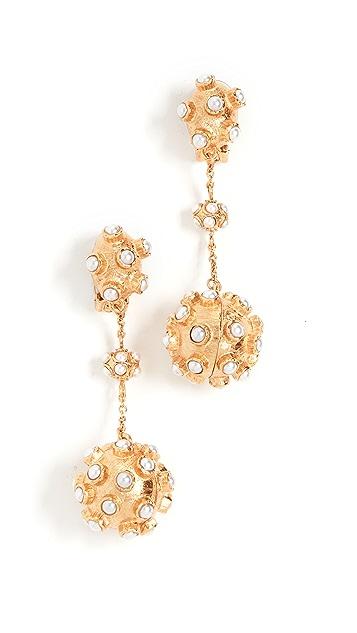 Oscar de la Renta Cabochon Ball Earrings
