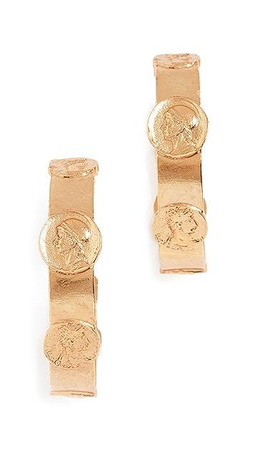 Oscar de la Renta 硬币吊坠耳环