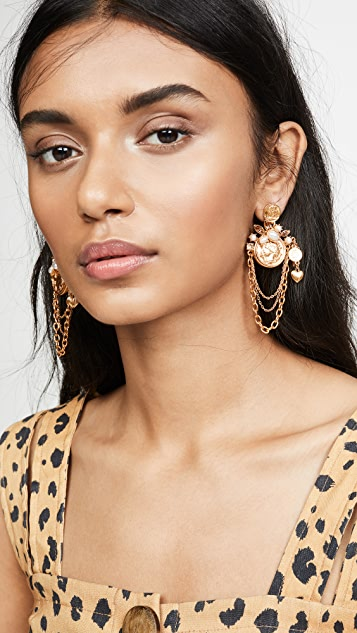 Coin &Amp; Charm Earrings by Oscar De La Renta