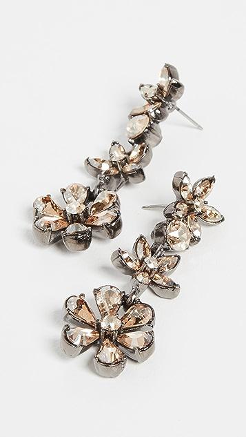 Oscar de la Renta Crystal Star Drop Earrings