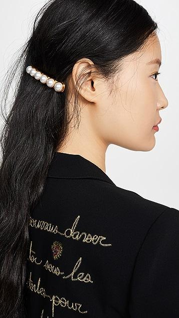 OscardelaRenta Заколка для волос с искусственным жемчугом
