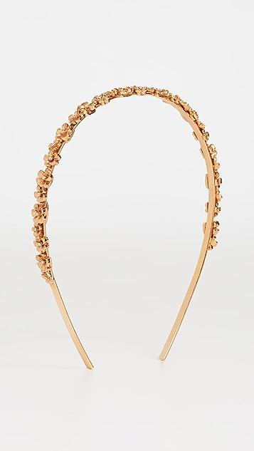 Oscar de la Renta 金属花朵发带