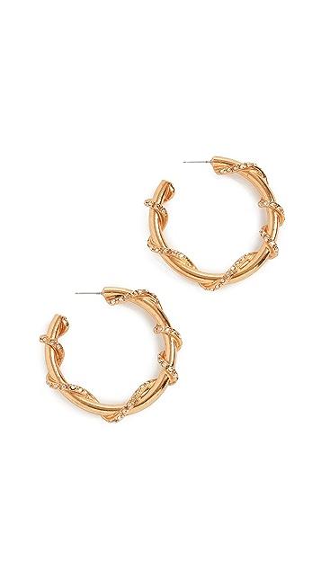 OscardelaRenta Серьги-кольца с лозой и паве