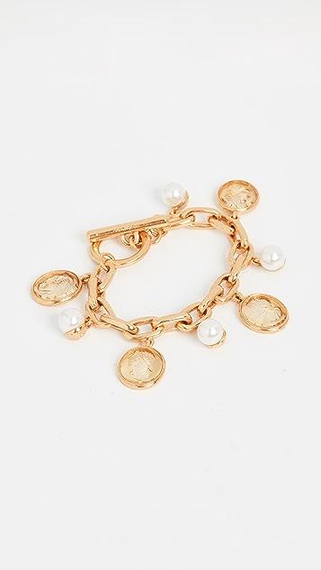 Oscar de la Renta Cameo Charm Bracelet