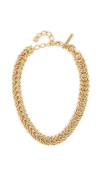 Oscar de la Renta Tubular Braid Necklace