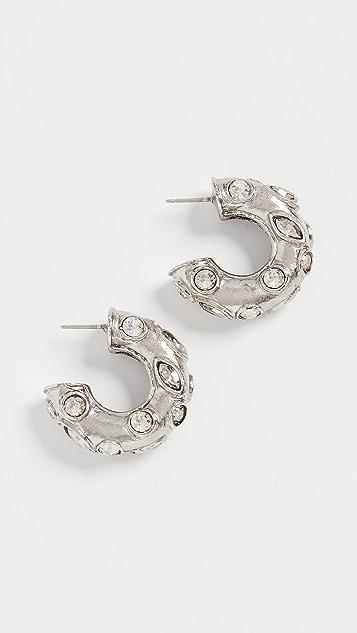 Oscar de la Renta 小号金属环形耳环