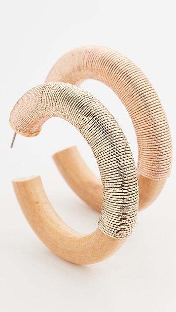 Oscar de la Renta Thread 圈式耳环