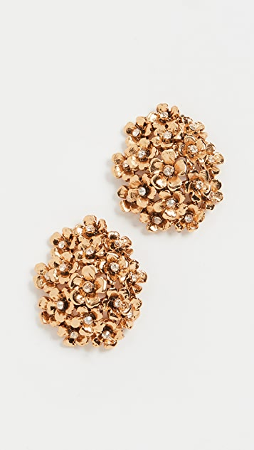 Oscar de la Renta Floral Cluster Earrings