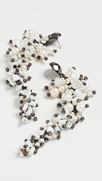 Oscar de la Renta Embellished Beaded Earrings