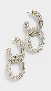 Oscar de la Renta Embellished Crystal Link Earrings