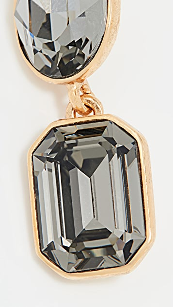 Oscar de la Renta 水晶石耳环