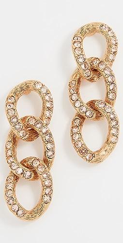 Oscar de la Renta - 链条耳环