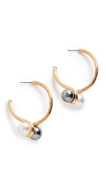 Oscar de la Renta 双施华洛世奇珍珠耳环