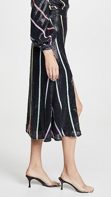 Olivia Rubin Astrid Sequined Skirt