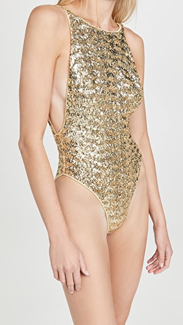 Oseree Paillettes Maillot One Piece Sequin Swimsuit