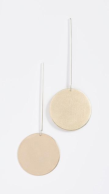 ONE SIX FIVE Jewelry Drop Circle Earrings