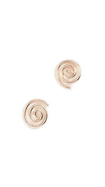 ONE SIX FIVE Jewelry Spiral Stud Earrings