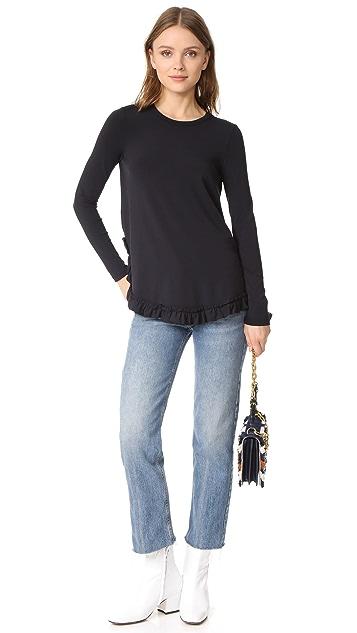 Otto d'ame Viaggio Ruffle Sweater