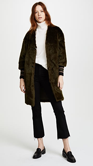 Otto d'ame Betty Faux Fur Coat