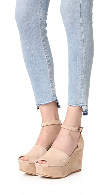 Ouigal Viola Platform Wedges