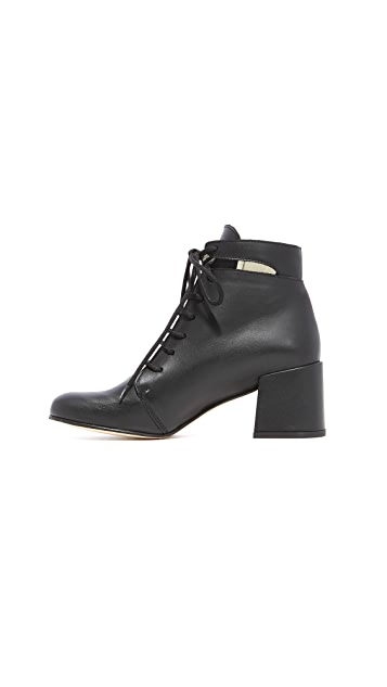 Ouigal Fay Lace Up Booties