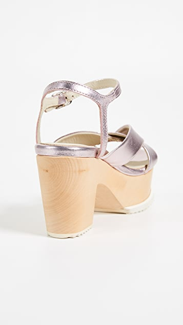 Ouigal Maybelle Block Heel Sandals