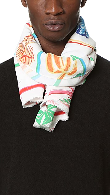 Our Legacy Graffiti Palm Scarf