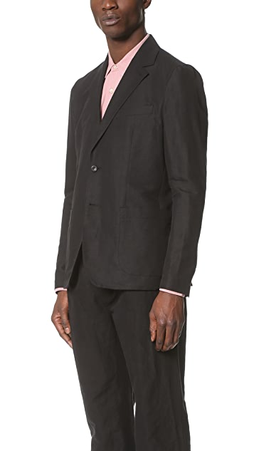 Our Legacy 2B Unconstructed Cotton Linen Blazer