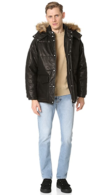 Our Legacy Puffa Leather Jacket