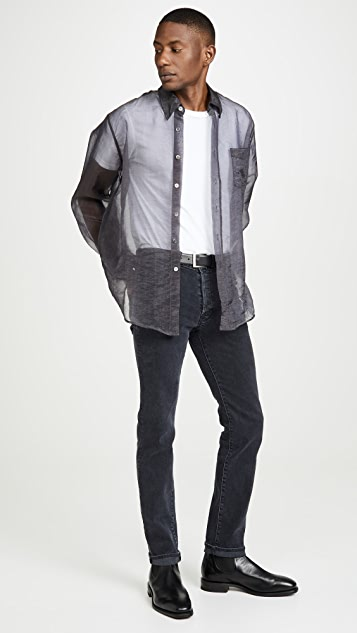 Our Legacy Less Borrowed Shirt Grey Organza