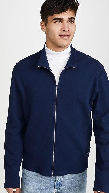 Our Legacy Shrunken Full Zip Polo 70's Sweater