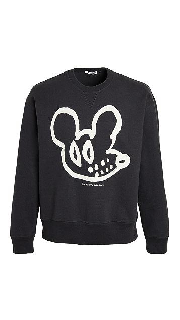 Our Legacy Rat Print Crew Neck Sweatshirt