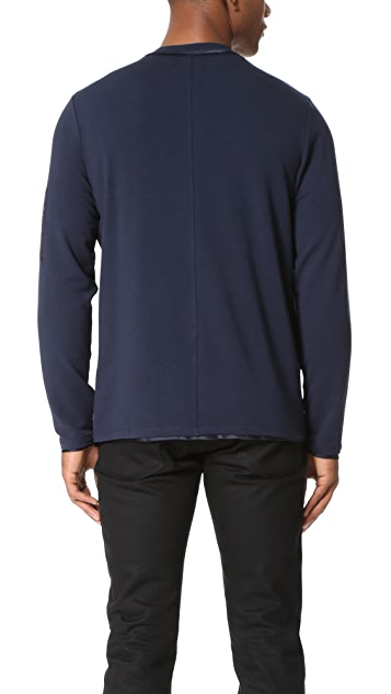 Ovadia & Sons Satin Trim Sweatshirt