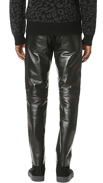 Ovadia & Sons Leather Moto Pants