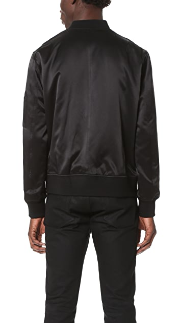 Ovadia & Sons Reversible Satin Bomber Jacket