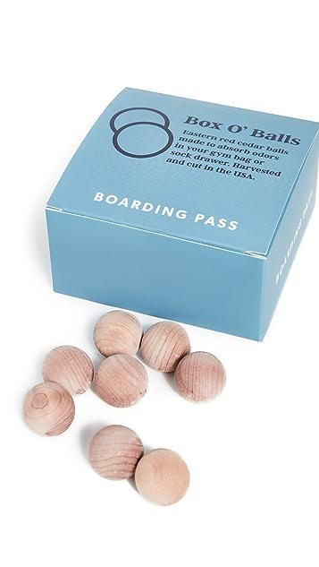 Boarding Pass Box O' Cedar Balls