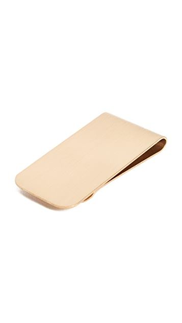 Boarding Pass Brass Money Clip
