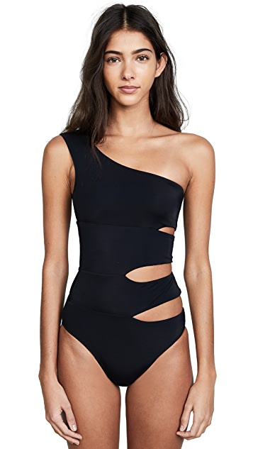 OYE Swimwear Delphine One Shoulder Swimsuit