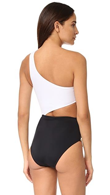 OYE Swimwear Kim One Shoulder Cutout One Piece
